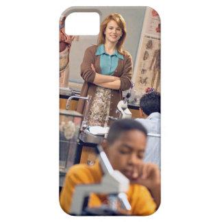 Biology teacher standing in class iPhone 5 case