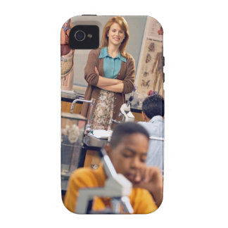 Biology teacher standing in class vibe iPhone 4 cases