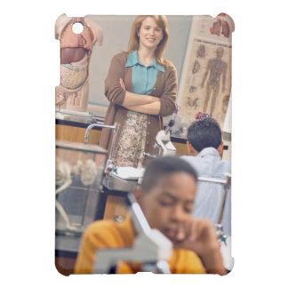 Biology teacher standing in class iPad mini covers