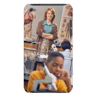 Biology teacher standing in class iPod touch Case-Mate case