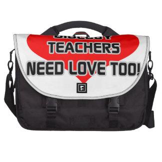 Biology Teachers Need Love Too Bag For Laptop