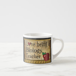 Biology Teacher's Vintage Unique Style Espresso Cup