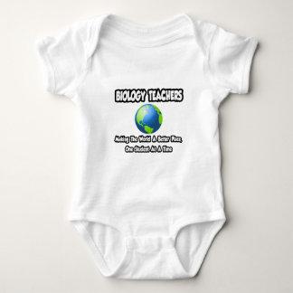 Biology Teachers...World a Better Place Baby Bodysuit