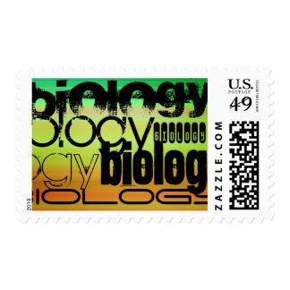 Biology; Vibrant Green, Orange, & Yellow Postage