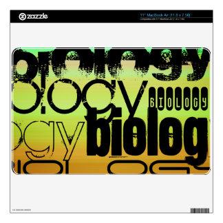 Biology; Vibrant Green, Orange, & Yellow Decals For MacBook