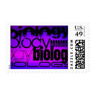 Biology; Vibrant Violet Blue and Magenta Postage