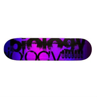 Biology; Vibrant Violet Blue and Magenta Skateboard Deck