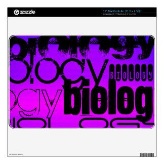 Biology; Vibrant Violet Blue and Magenta Skins For MacBook Air