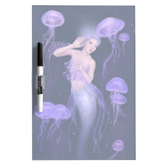 Bioluminescence Jellyfish Mermaid Dry Erase Board