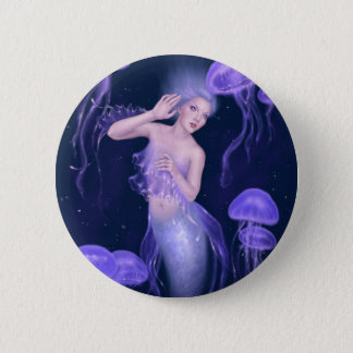 Bioluminescence Purple Jellyfish Mermaid Button