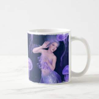 Bioluminescence Purple Jellyfish Mermaid Mug