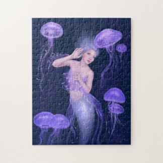 Bioluminescence Purple Jellyfish Mermaid Puzzle