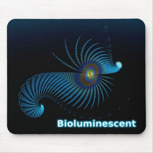 Bioluminescent Alien Sea Creature Mouse Pad