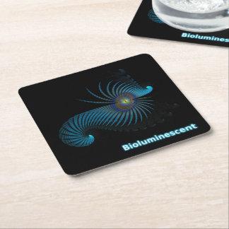Bioluminescent Square Paper Coaster
