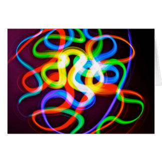 Bioluminescent Worms Greeting Cards