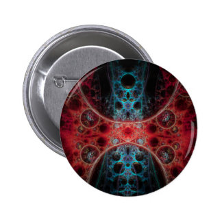 Biomechanica 1 Fractal Design Pinback Button