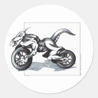 Biomechanical Draconic Trike Classic Round Sticker