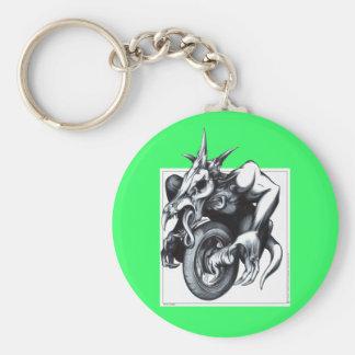 Biomechanical Draconic Unicycle Keychains