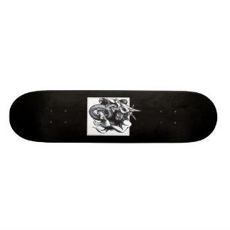 Biomechanical Draconic Unicycle Skate Board