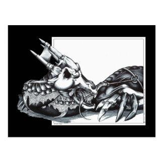 Biomechanical Dragon Postcard