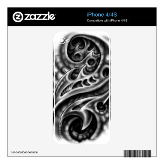 Biomechanical Skin Decals For The iPhone 4