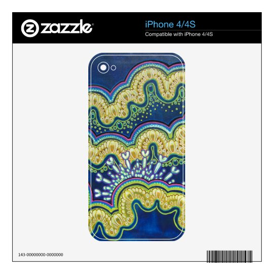 Biomechanical Tide iPhone 4/4S Skin Skins For iPhone 4S