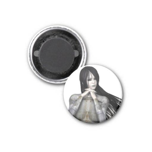 Biomechannequin Woman 3 - 3D Goth Mannequin Fridge Magnets