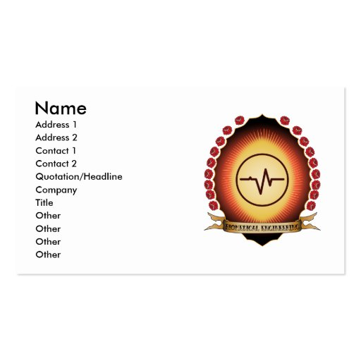 Biomedical Engineering Mandorla Double-Sided Standard Business Cards (Pack Of 100)