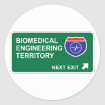 Biomedical Engineering Next Exit Classic Round Sticker