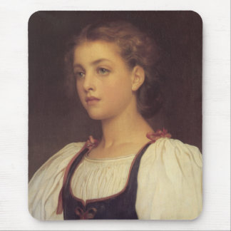 Biondina by Lord Frederick Leighton Mouse Pad