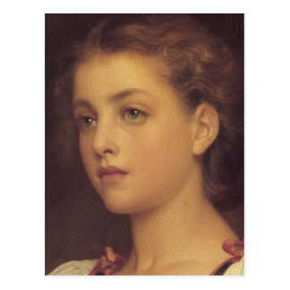 Biondina in detail - Lord Frederick Leighton Postcard