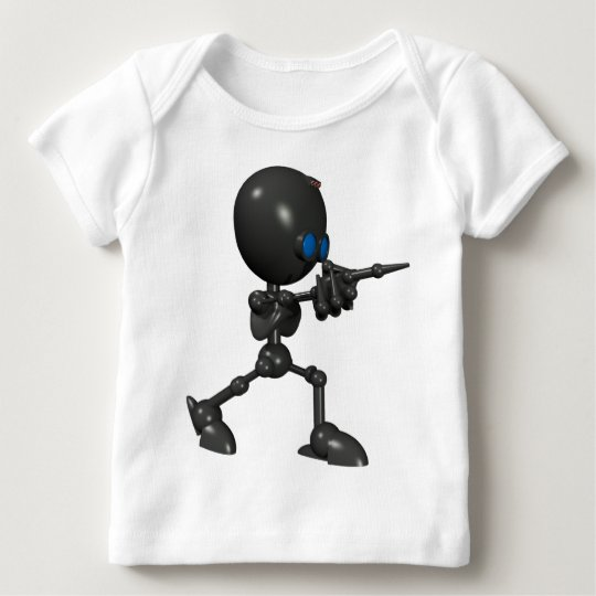 Bionic Boy 3D Robot - Finger Gun - Original Baby T-Shirt