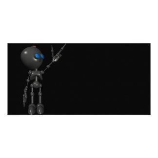 Bionic Boy 3D Robot - Finger Guns 2 - Original Custom Photo Card