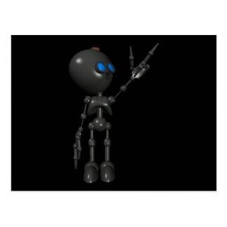 Bionic Boy 3D Robot - Finger Guns 2 - Original Postcard
