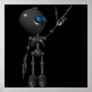 Bionic Boy 3D Robot - Finger Guns 2 - Original Print