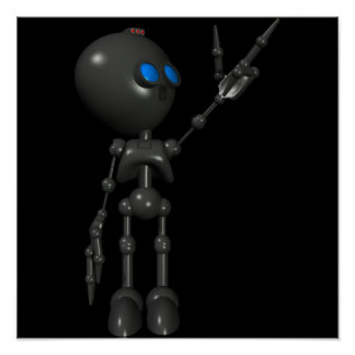 Bionic Boy 3D Robot - Finger Guns 2 - Original Poster