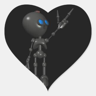 Bionic Boy 3D Robot - Finger Guns 2 - Original Heart Sticker