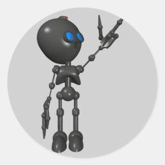 Bionic Boy 3D Robot - Finger Guns 2 - Original Classic Round Sticker