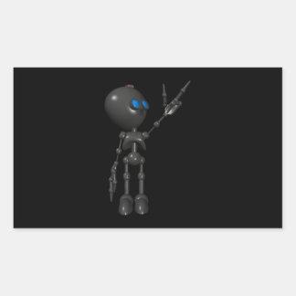 Bionic Boy 3D Robot - Finger Guns 2 - Original Rectangular Stickers