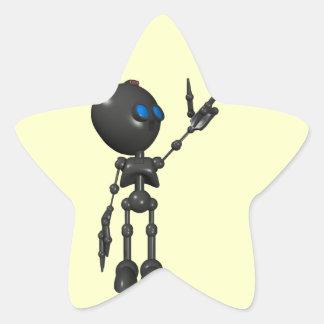 Bionic Boy 3D Robot - Finger Guns 2 - Original Star Stickers