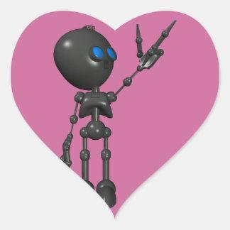 Bionic Boy 3D Robot - Finger Guns 2 - Original Heart Stickers