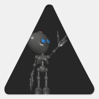 Bionic Boy 3D Robot - Finger Guns 2 - Original Triangle Sticker