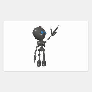 Bionic Boy 3D Robot - Finger Guns 2 - Original Rectangle Sticker
