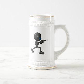 Bionic Boy 3D Robot - Finger Guns - Original Beer Stein