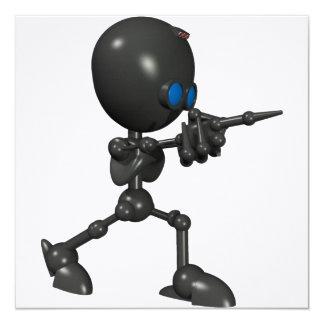 Bionic Boy 3D Robot - Finger Guns - Original Card