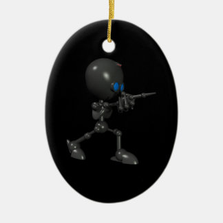 Bionic Boy 3D Robot - Finger Guns - Original Ceramic Ornament