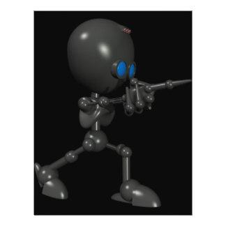Bionic Boy 3D Robot - Finger Guns - Original Flyers