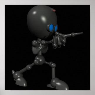 Bionic Boy 3D Robot - Finger Guns - Original Posters