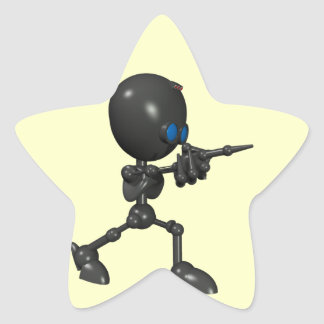 Bionic Boy 3D Robot - Finger Guns - Original Star Sticker