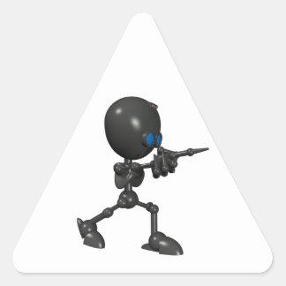 Bionic Boy 3D Robot - Finger Guns - Original Triangle Sticker